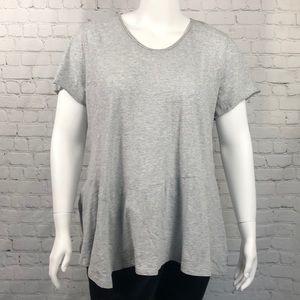 Style & Co Heather Gray Short Sleeve Tee Size 2X